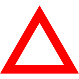 Red triangle png. Outline icon free shape