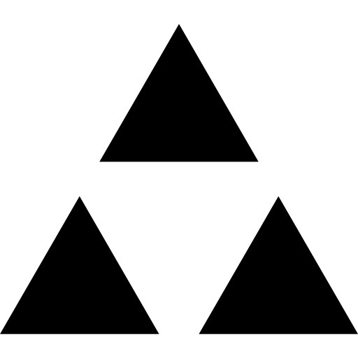 Triangle shape png. Triangular shapes inverted black