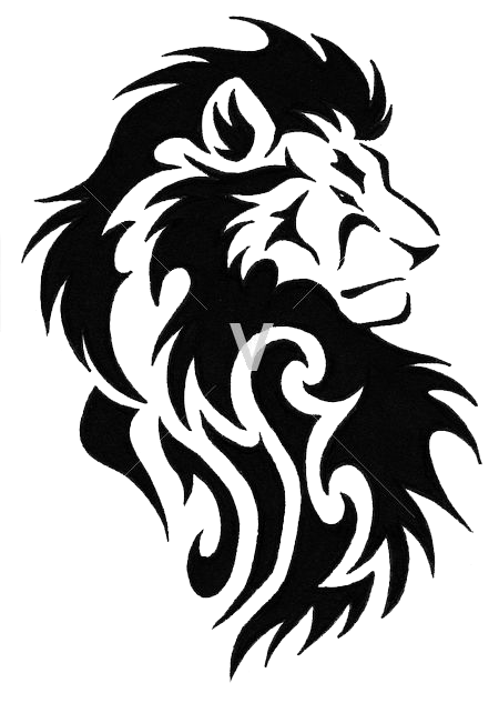 Geometric lion png