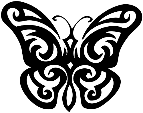 Tribal butterfly png. Tattoo designs transparent images