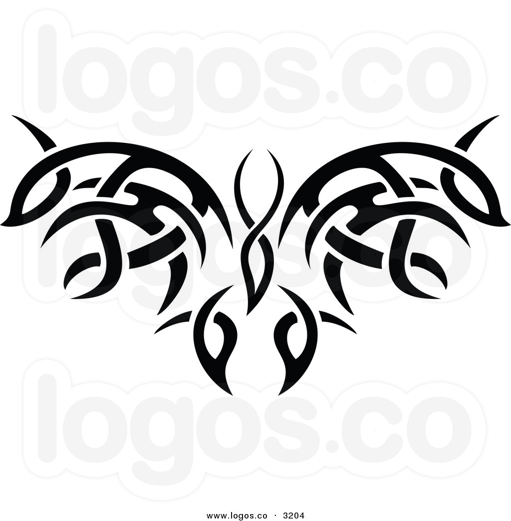 Tribal clipart image black and white download