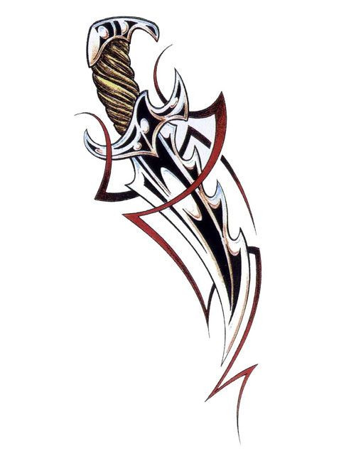 Tribal clipart elegant. Swords and daggers tattoos