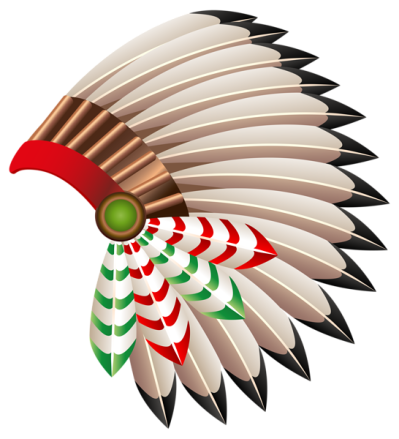 Tribal clipart hat. Native american chief transparent