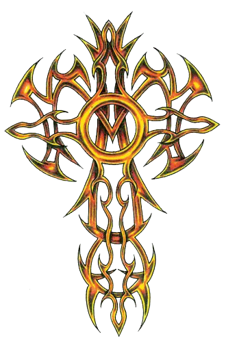 Tribal cross png. Clipart tattoos photo transparentpng