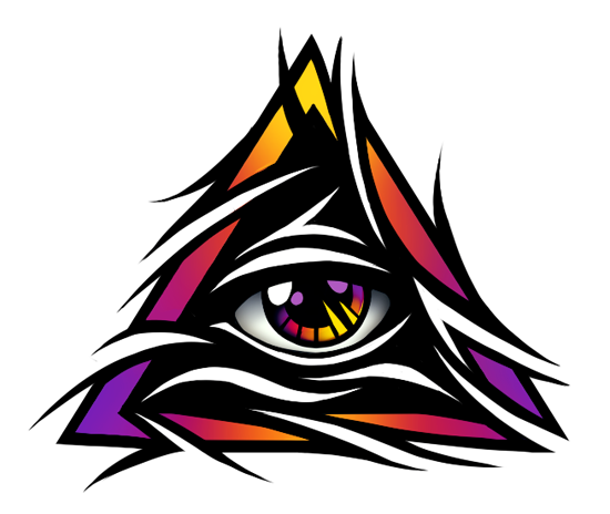 Tribal eye png. All seeing tattoo design