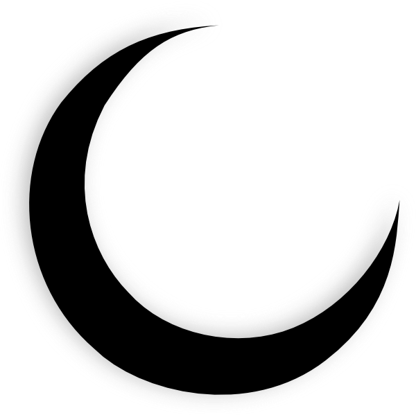Crescent vector moon tattoo. Silhouette google search shapes
