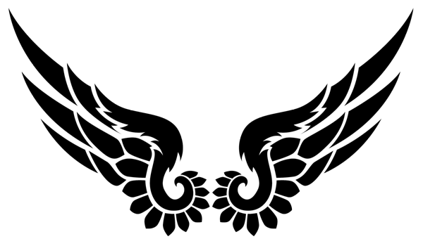 Tribal phoenix png. Angel wings dsn pinterest
