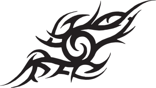Tribal tattoo design png. Nine isolated stock photo