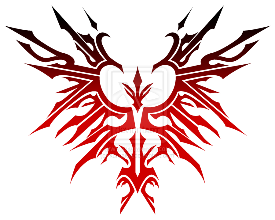 Tribal transparent emblem. Phoenix by kuroakai deviantart