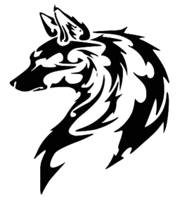 Tribal transparent wolf. Image x png animal