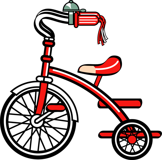 Tricycle clipart. Clip art scrapbook and
