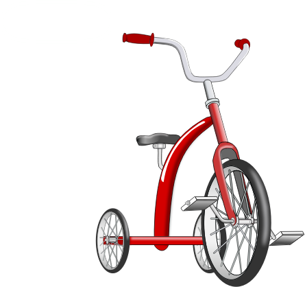 Tricycle clipart. Final free for download
