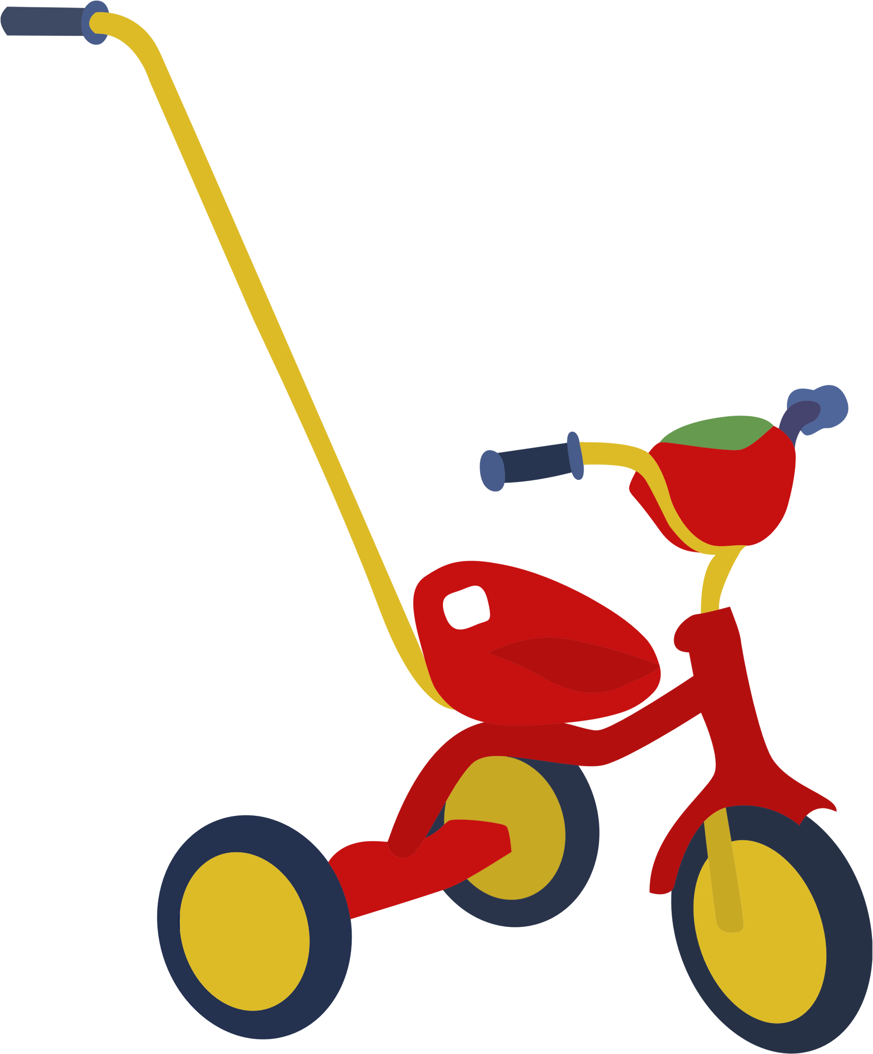 Red big image png. Tricycle clipart picture