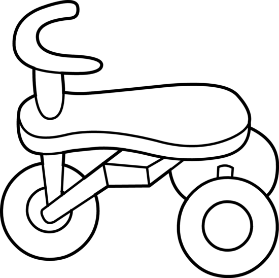 Tricycle clipart. Toddler line art free