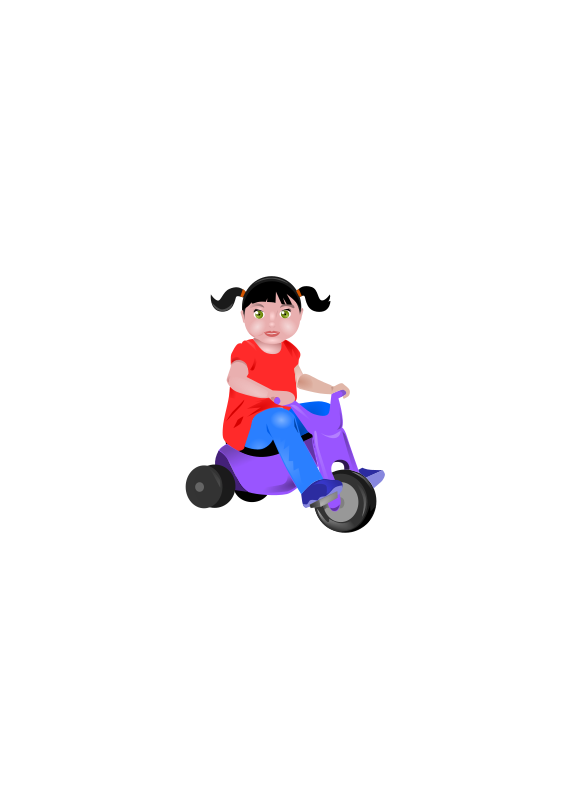 Tricycle clipart. Toddler on medium image
