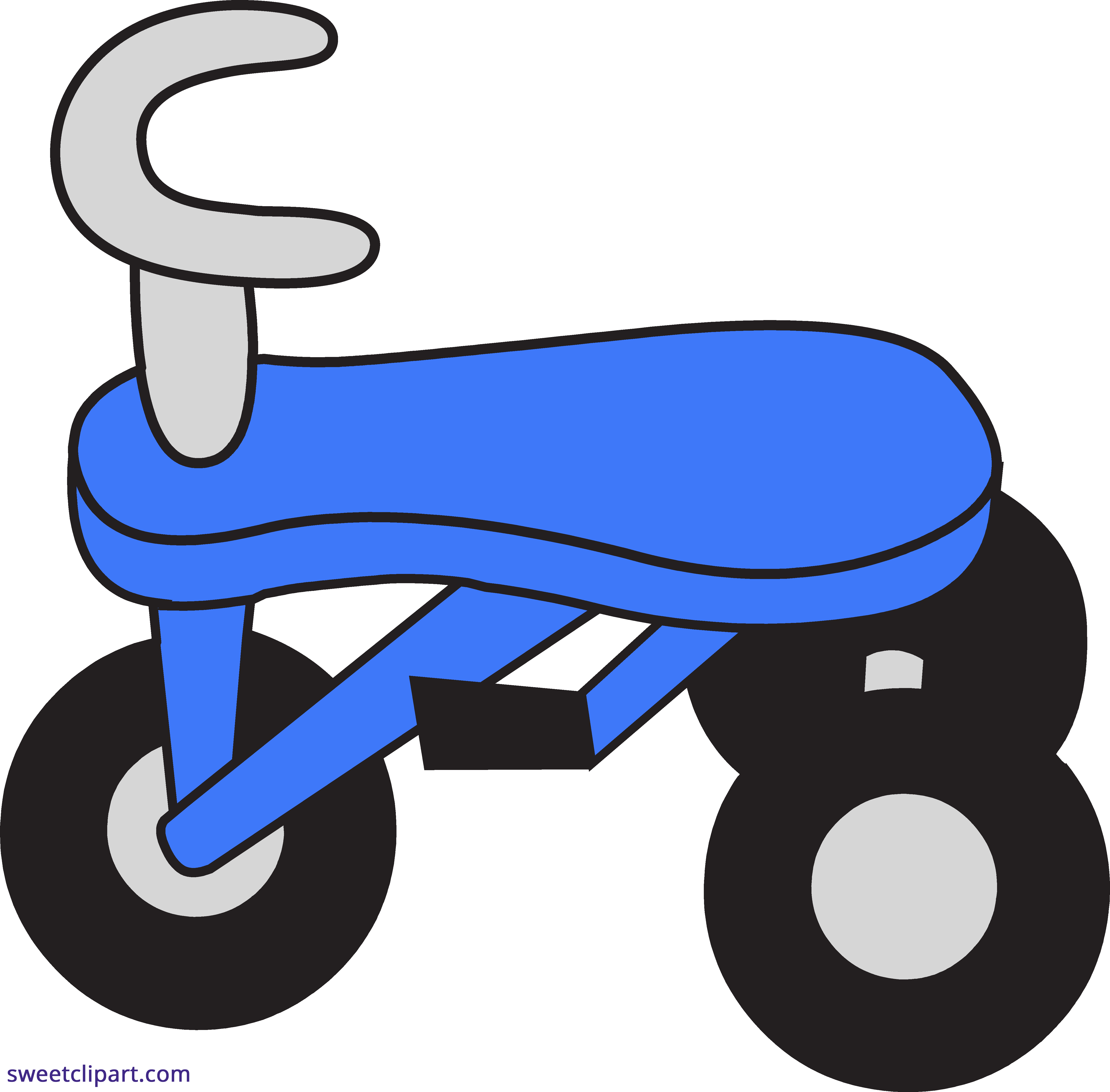 Blue sweet clip art. Tricycle clipart svg transparent download