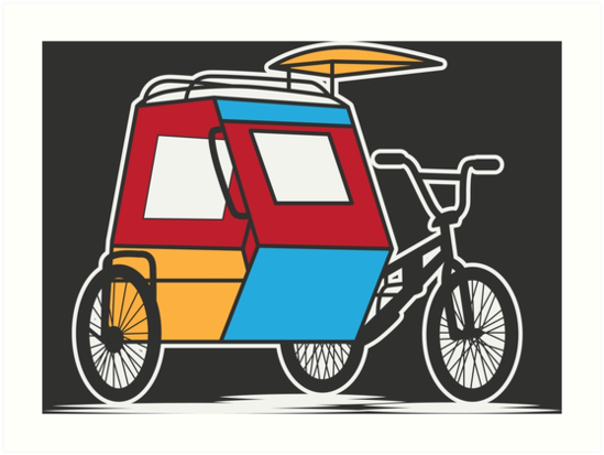Tricycle clipart tricycle philippine. Padyak philippines art prints