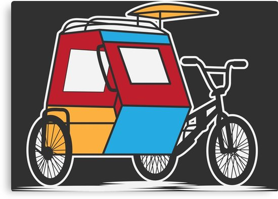 Tricycle clipart tricycle philippine. Padyak philippines canvas prints