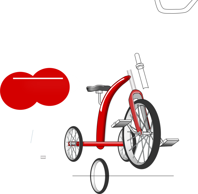 Tricycle clipart tricycle race. Sticker bicycle decal label