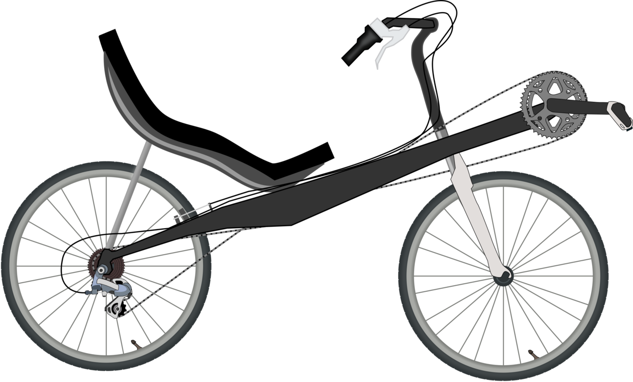 Tricycle clipart. Recumbent bicycle motorcycle cycling
