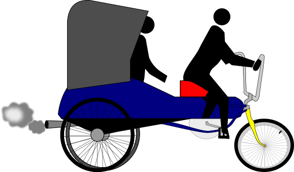 tricycle clipart trishaw