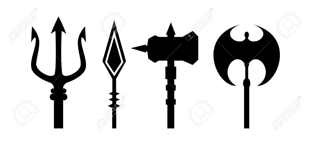 Trident clipart silhouette. At getdrawings com free