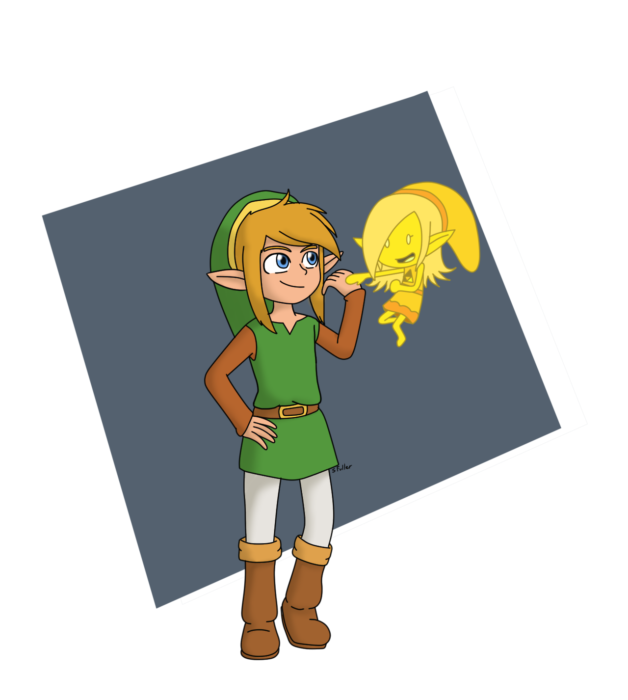 Triforce drawing animated