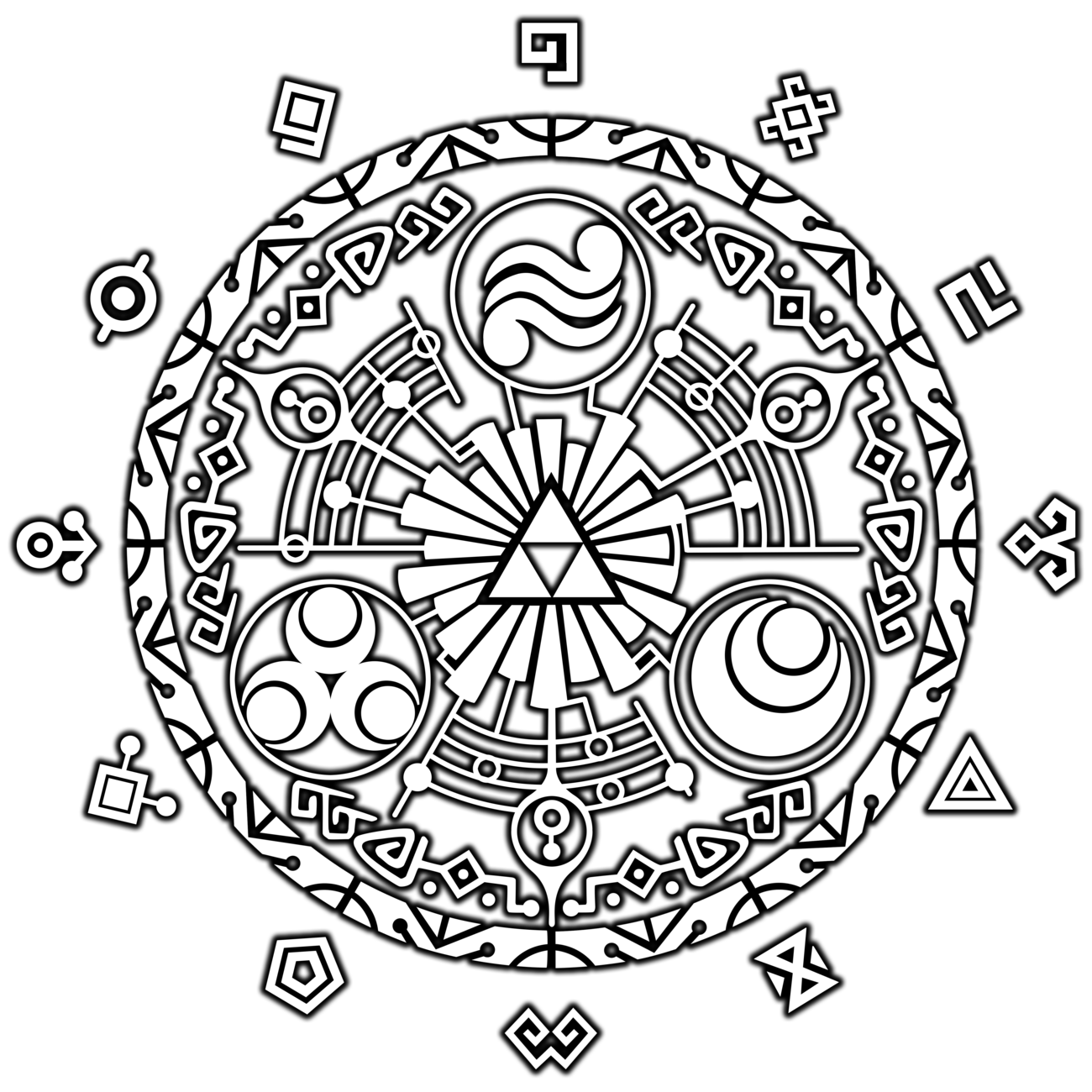 Triforce drawing circle. Click for a larger
