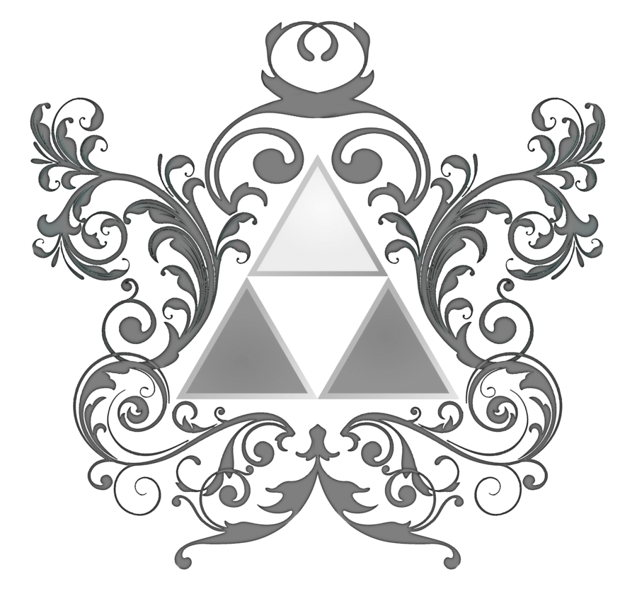 Triforce drawing circle. Of power by matthewsheffield