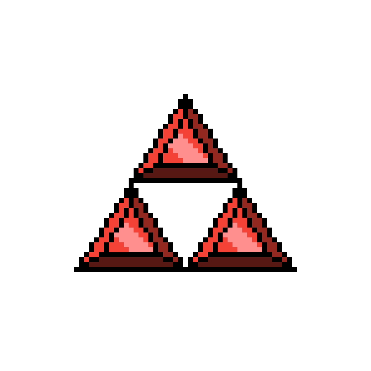 Triforce drawing crystal. Pixilart red by zwatcher