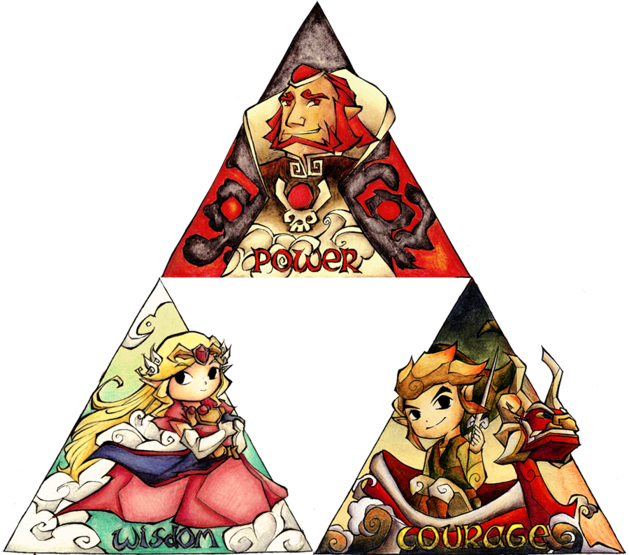 Triforce drawing realistic. The complete by hyliabeilschmidt