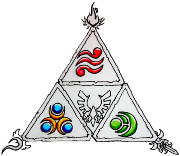 Triforce drawing watercolor. For andrew inspiration pinterest