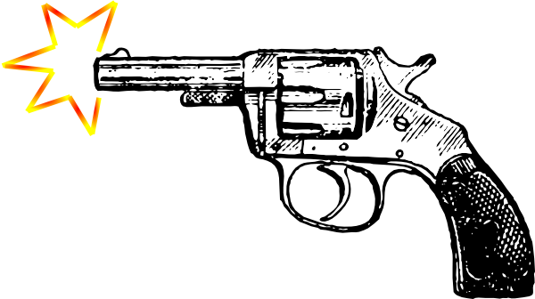 Vector bullet gunshot. Bang clip art at