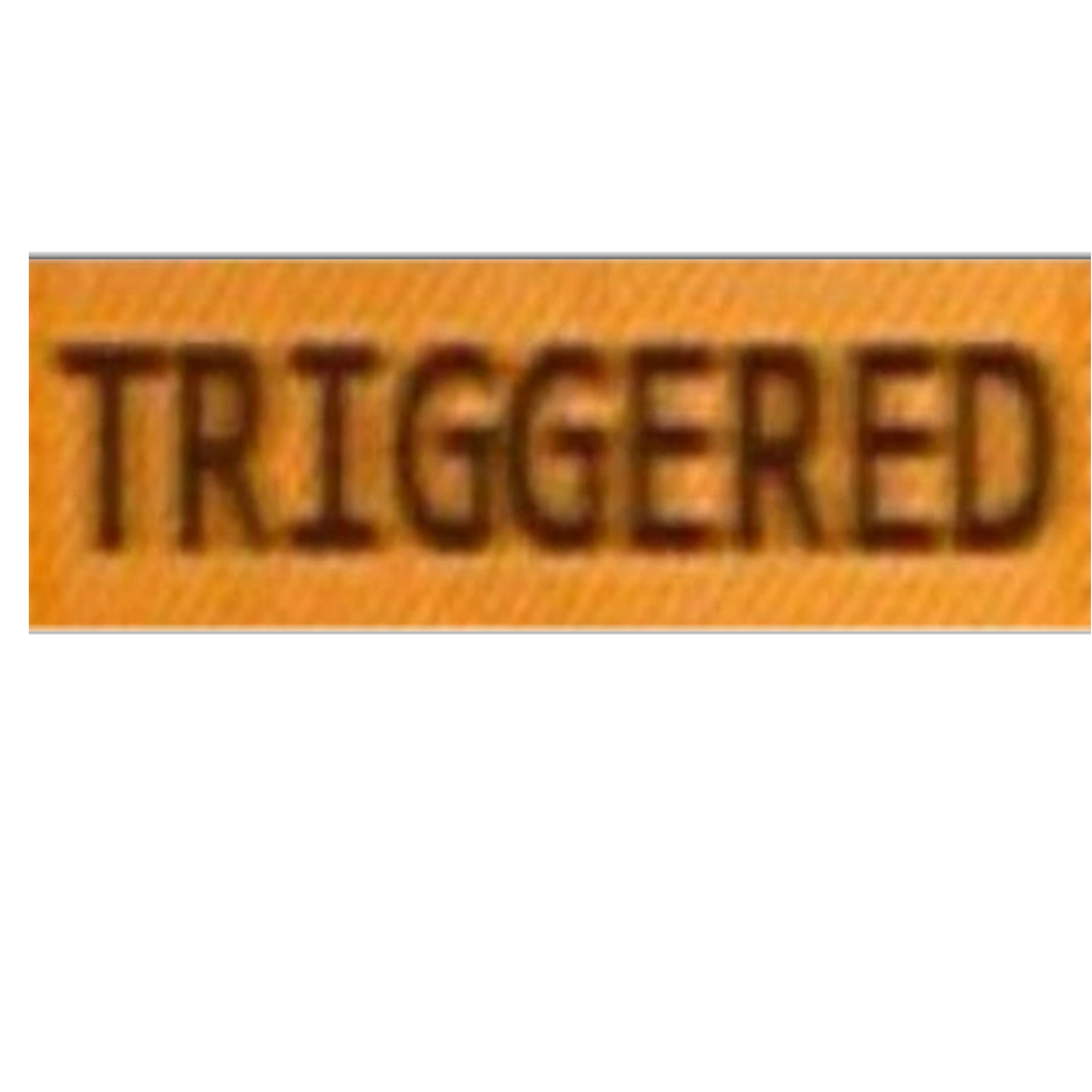 Triggered text png. Sticker by blank