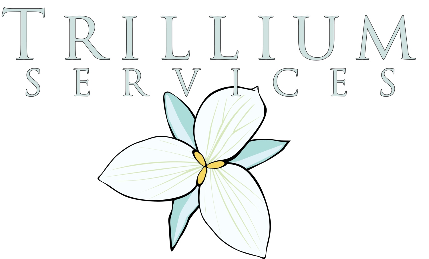 Trillium drawing flower ontario. Person centered planning services