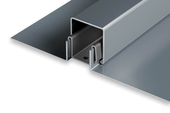 Trim clip metal. Snap on panels batten