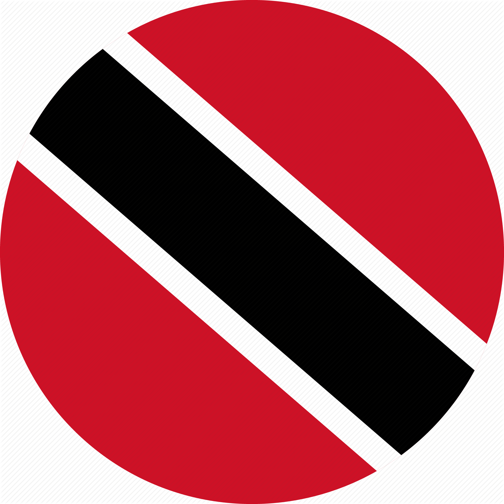 Trinidad flag png. Rounded flat country collection