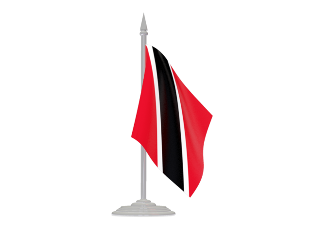 Trinidad flag png. With flagpole illustration of