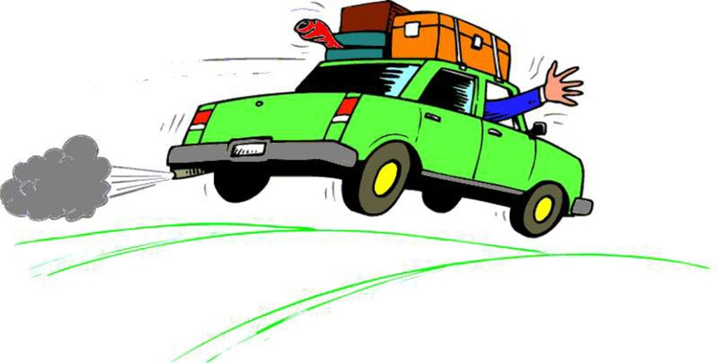 Trip clipart. Road t vacation car