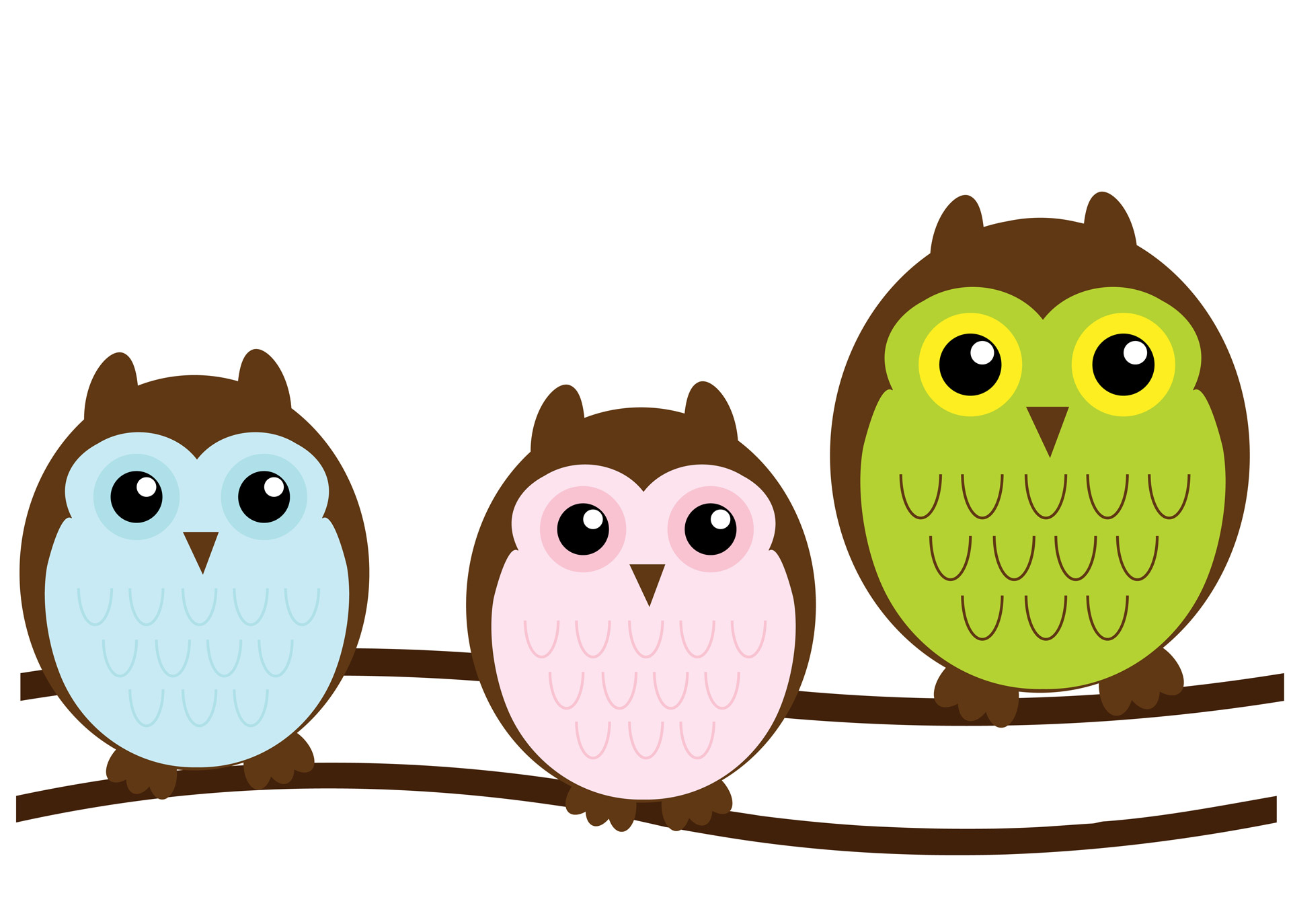 Cute clipart. Owl family free stock