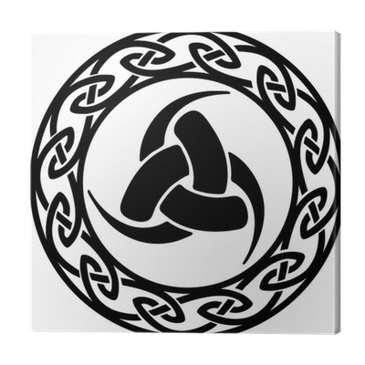 Triple horn of odin png. Celtic endless knot canvas