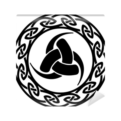Triple horn of odin png. Celtic endless knot wall