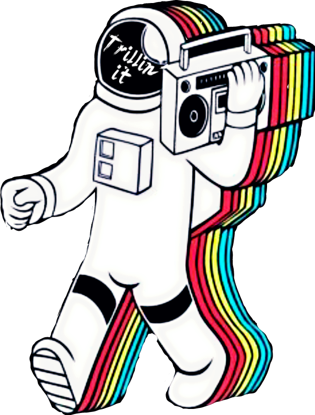 Trippy astronaut png. Collection of drawing