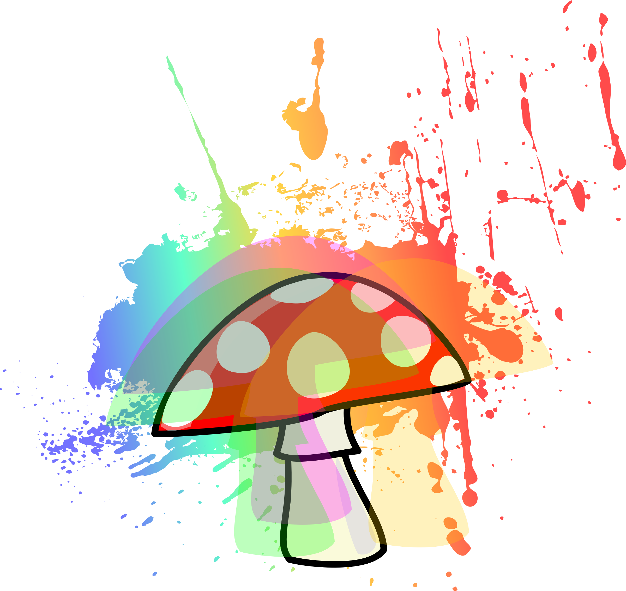 Trippy mushroom png. Clipart psychedelic big image