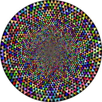 Trippy vector background. Symmetry kaleidoscope light computer