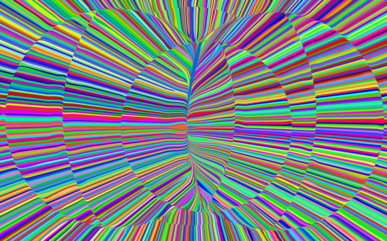Trippy vector background. Psychedelic rock psychedelia art