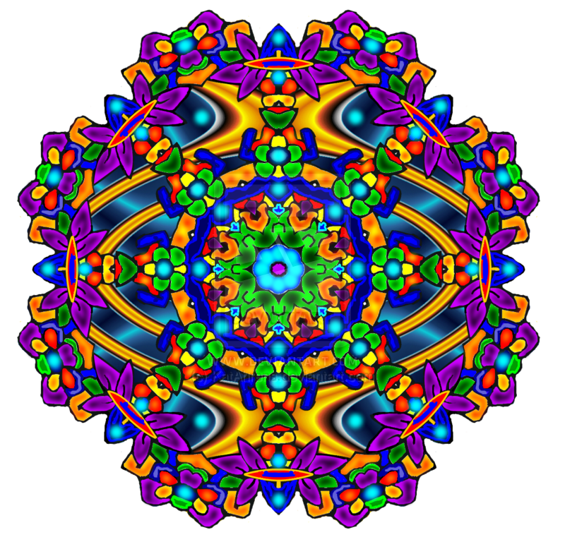 Trippy vector zentangle. Stained glass look mandalas