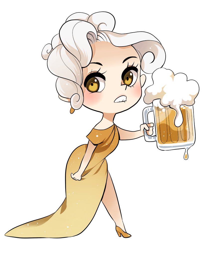Trisha drawing shading. Beer chan by meago