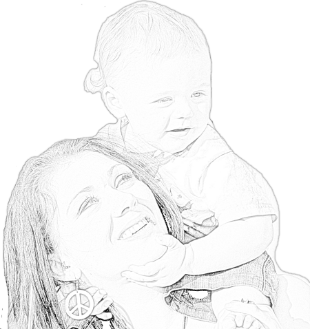 Trisha drawing sketch. Mama si copilul png