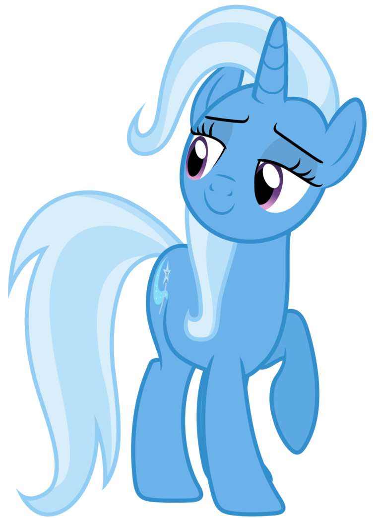 Trixie vector. Likes what she sees